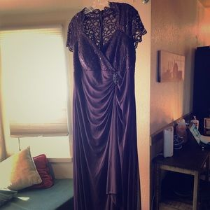 Eggplant formal gown